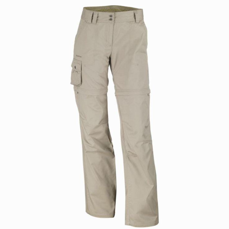 Abbigliamento escursionismo donna - Pantaloni escursionismo modulabili donna Arpenaz 100 beige