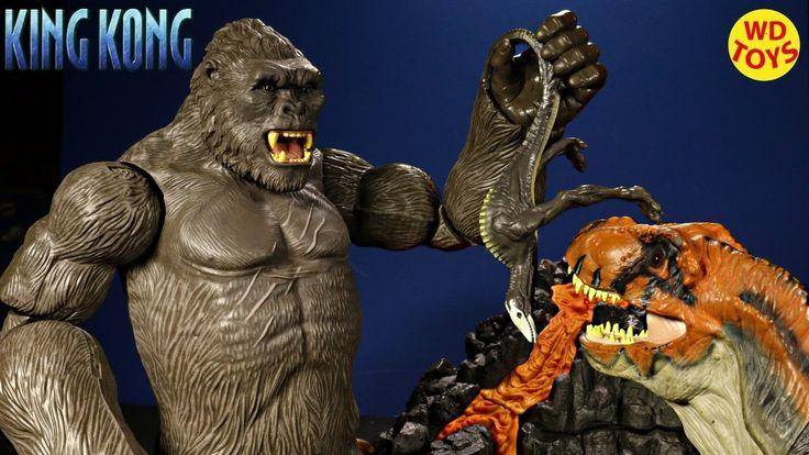 New King Kong Skull Island Skull Crawler  Vs Trex Jurassic Park Creature...