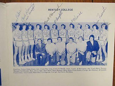 1972 Bentley College Mens Basketball Program(10 Signed/BRIAN HAMMEL/AL GRENFELL)