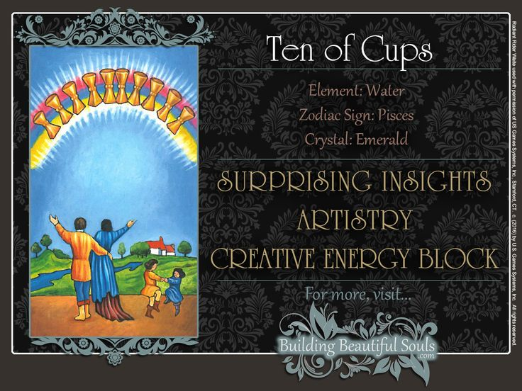 THE Ten of Cups TAROT CARD MEANINGS - UPRIGHT& REVERSED! The Ten of Cups Tarot includes LOVE, NUMEROLOGY, & SYMBOLS for more accurate TAROT READING.