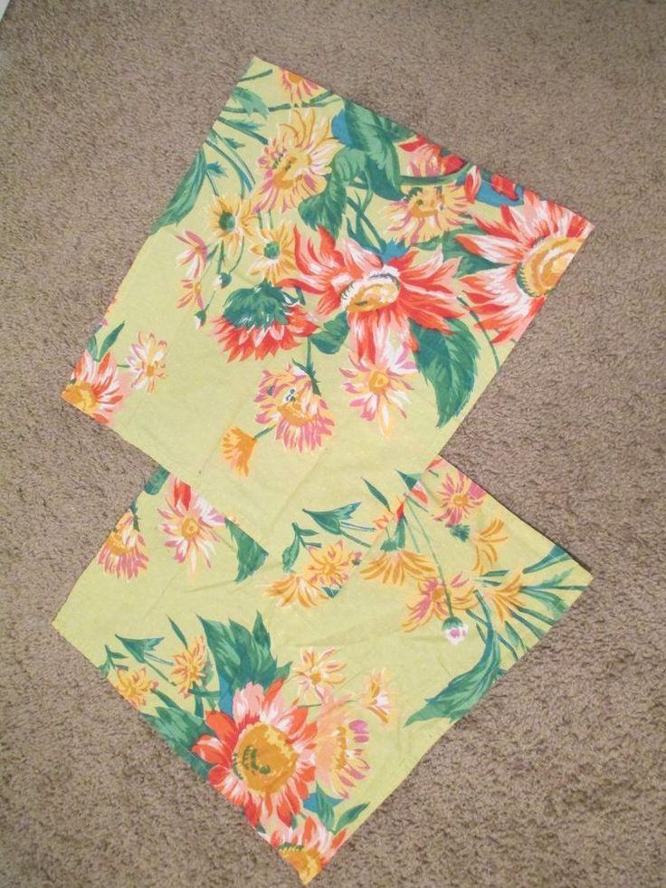 April Cornell Floral Green Napkins (2) Cloth #AprilCornell