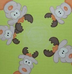 Strakke kerstkaart met rendieren. Grappige Cartoon-kerstkaarten. Kies een mooie kerstkaart, schrijf de tekst, en met een druk op de knop, verstuur je ze allemaal! http://www.kerstkaartensturen.nl/kerstkaarten/kerst-cartoons/