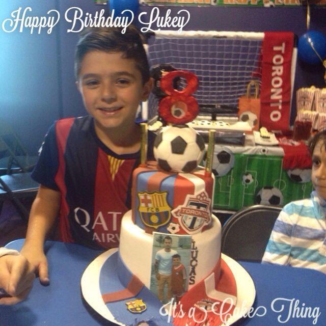 Toronto FC and Barcelona custom cake and sweet table  - https://flipagram.com/f/dffOX3APIB