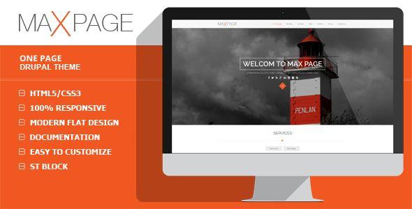 Maxpage - One Page Drupal Theme