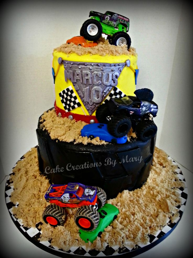 1000 Ideas About Grave Digger Cake On Pinterest Monster