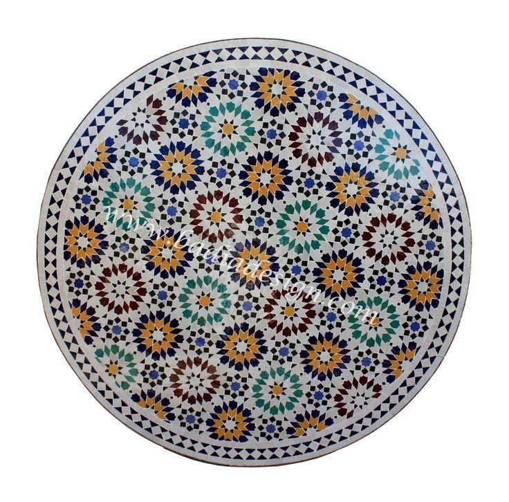 Vivid Multi Color Moroccan Mosaic Tile Table Top including Moroccan tile table top Los Angeles, tile table top, Moroccan patio furniture, Moroccan tile table, Mosaic tile table top, Moroccan tile table pictures, Moroccan mosaic tile table top, Moroccan furniture Los Angeles