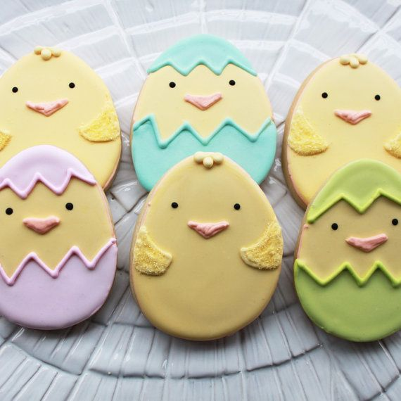 Hatching Chicks Easter Cookie Gift Box Vanilla by whippedbakeshop, $34.50 Repinned By:#TheCookieCutterCompany
