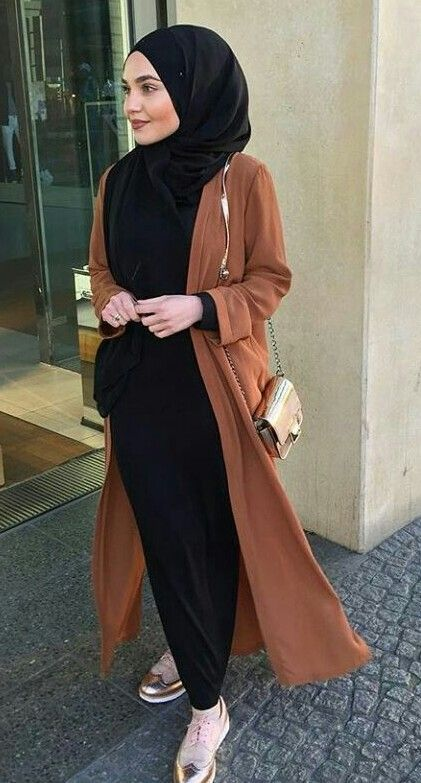 Long tan open cardigan - check out: Esma <3