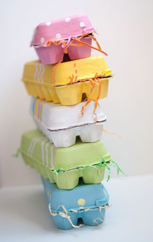 Easy Painted Egg Cartons - perfect gift or kids birthday party favour or even for a baby shower!