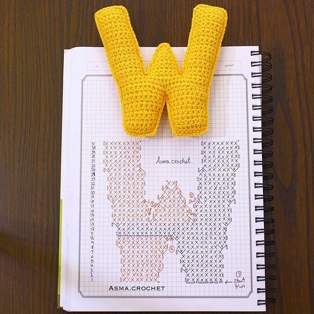 . . كل الذين سَخِروا من طموحك النبيل  سيَطلبون رضاك عما قريب . ✨ . #letters_crochet .