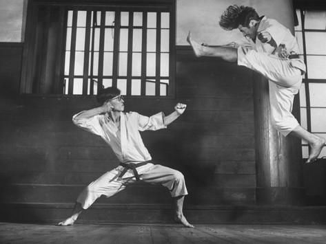 Japanese Karate Students Demonstrating Fighting Photographic Print by John Florea at AllPosters.com