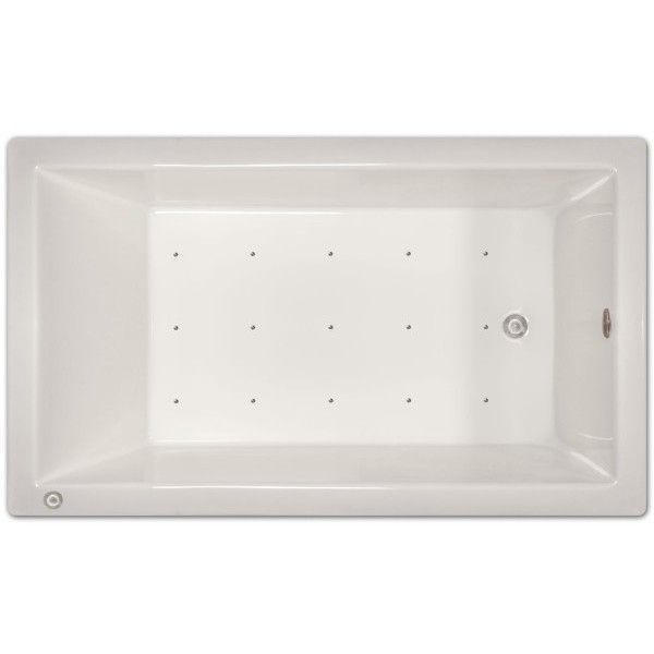 Signature Bath 72 Inch X 42 Inch X 18 Inch Drop In Air Tub With Stainless  Jets And Heated Blower (Right Drain), White, Size Over 71 Inches