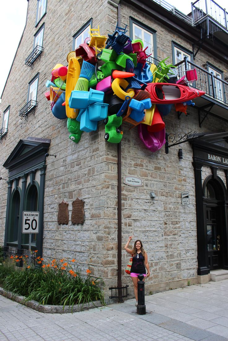 The Unusual Passages (Les Passages Insolites) is an outdoor art exhibition in Quebec City featuring interactive displays to explore. Outdoor art in Quebec.