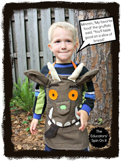The Educators' Spin On It: How to Make a Gruffalo Dress Up Apron for Creative Storytelling