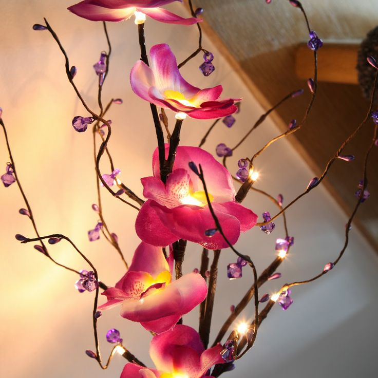 Beautiful Flowers 2019 Artificial Flowers In Vase With Lights