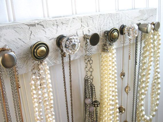 Necklace Holder and Accessory Hanger with 8 Knobs by sweetsadiek, $40.00