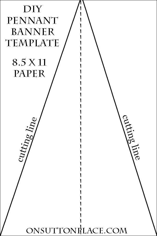 best 20  pennant template ideas on pinterest