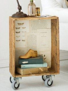 ide med trækasse på hjul #bogkasser