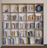 Plywood Bookshelf with open back and individual square storage shelves | Living | Make Furniture