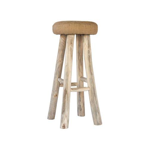 side table stool uniqwa jute