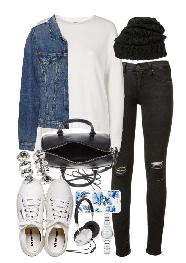 """""""Outfit for travelling"""" by ferned on Polyvore featuring rag & bone, Topshop, Proenza Schouler, Leith, Yves Saint Laurent, Henri Bendel, Forever 21, Sonix and Burberry"""