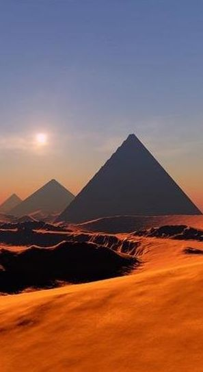 The Giza plateau • original source not found