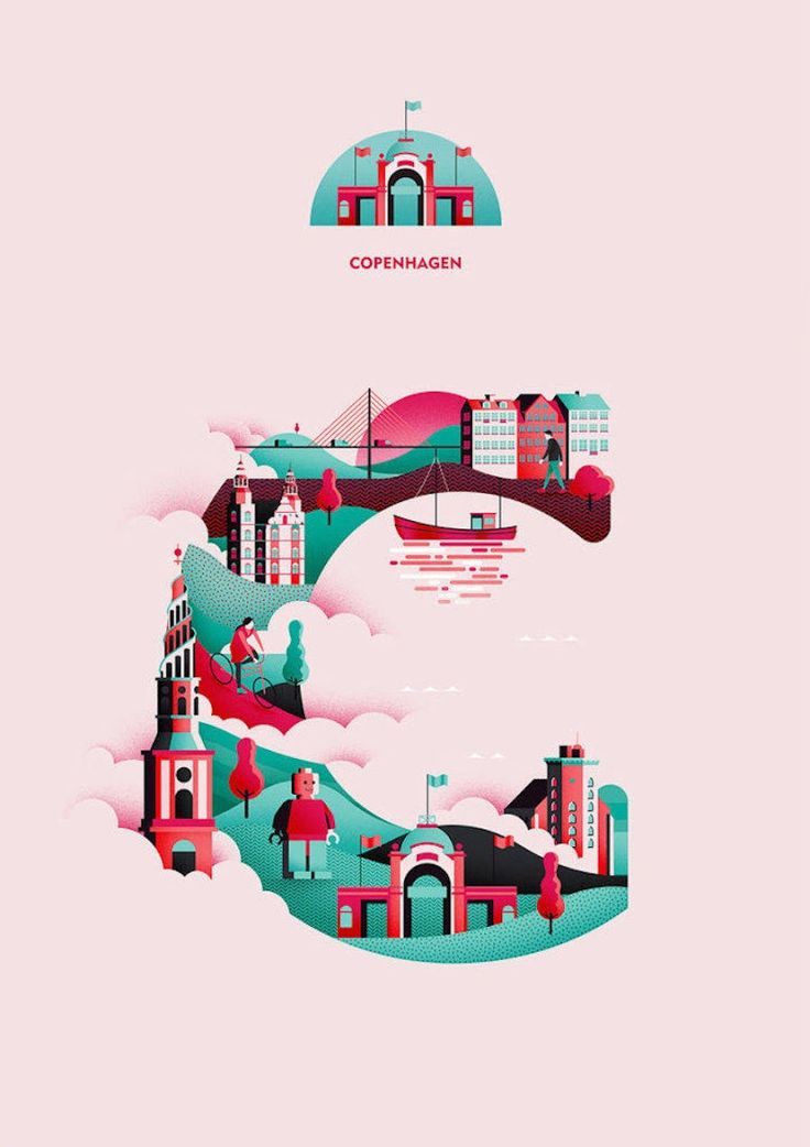 Typographer Jack Daly began a visual project titled Wanderlust Alphabet that aims to represent each letter of the alphabet ornamented with details from a city
