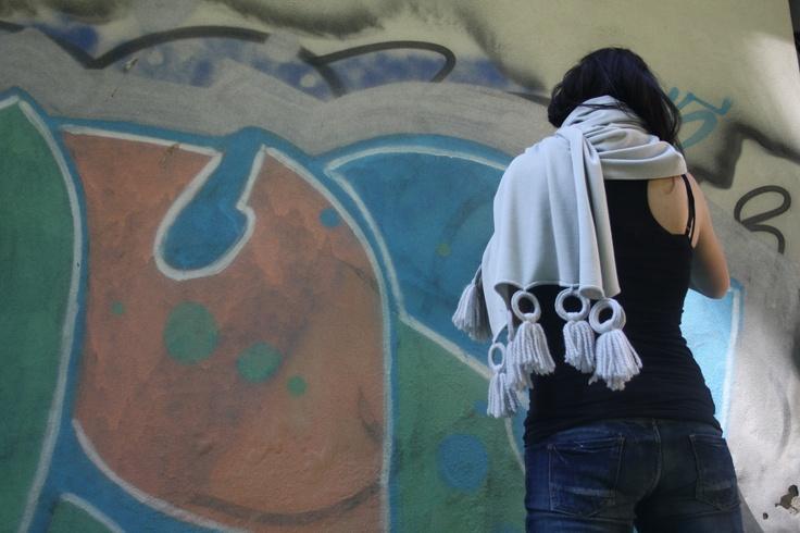 Wool shawl silk #shawl #marinafinzi #shop.marinafinzi.com