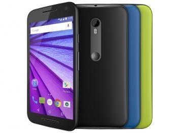 Smartphone Motorola Moto G 3ª Geração Colors HDTV - 16GB Preto Dual Chip 4G Câm. 13MP + Selfie 5MP
