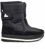 Zwarte Rubber Duck kinderschoenen Snowjogger regenlaarzen #rubberduck #snowboots