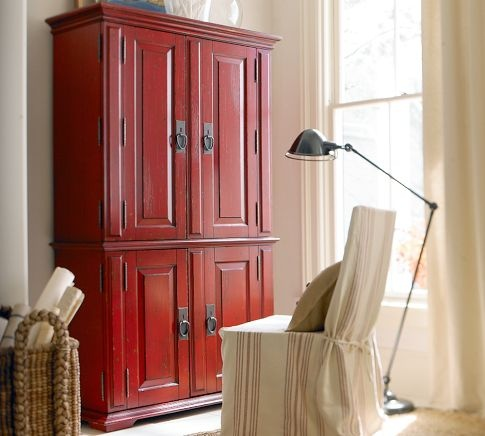 Campton Smart Technology Office Armoire Desa Ming Red