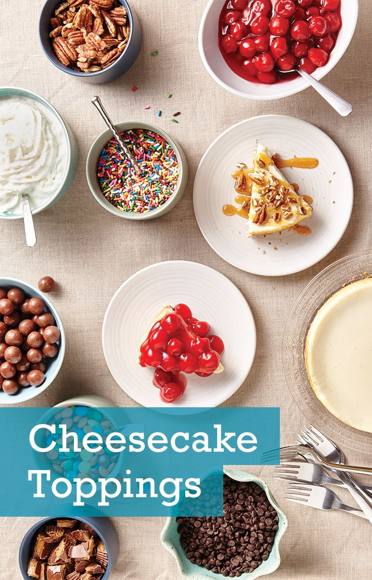 Set up a cheesecake toppings bar and let guests customize their dessert to their liking!