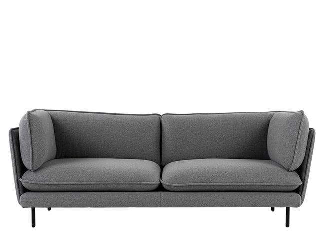 Wes 3 Sitzer Sofa Signalgrau Sofa Sofa Design 3 Seater Sofa