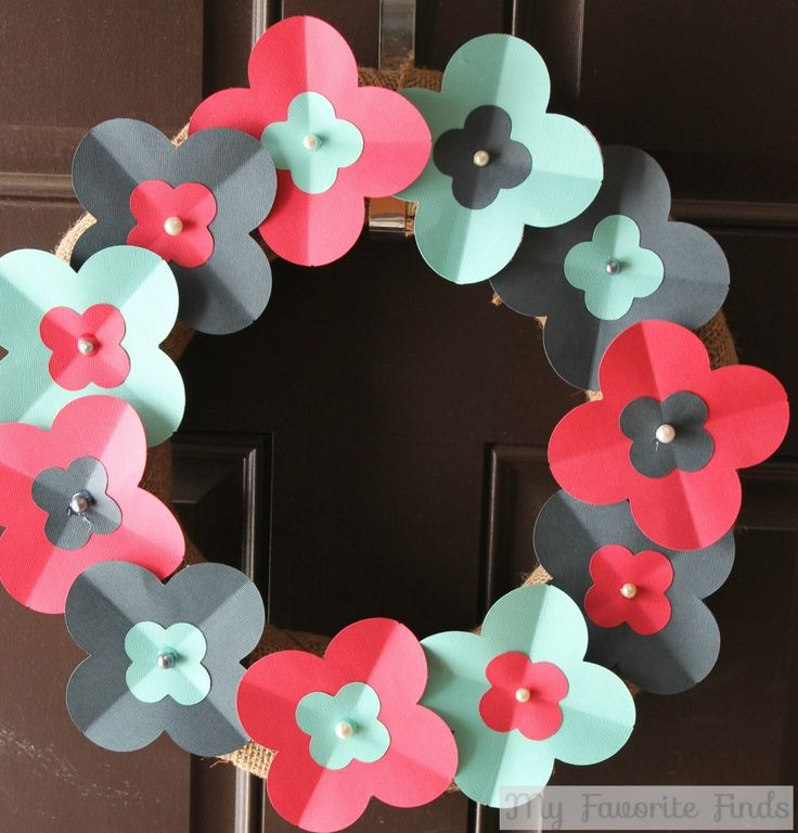 DIY Spring Paper Flower Wreath | a Silhouette project