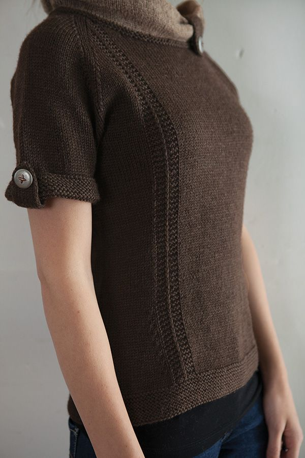 "Jayashri Pullover Pattern - Knitting Patterns by Meghan Jones, $4.99 DK weight, 34-62"" bust sizes."