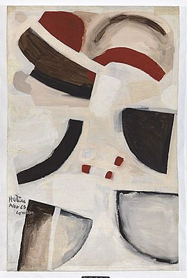 Ralph HOTERE, not titled [abstract painting by Ralph Hotere]