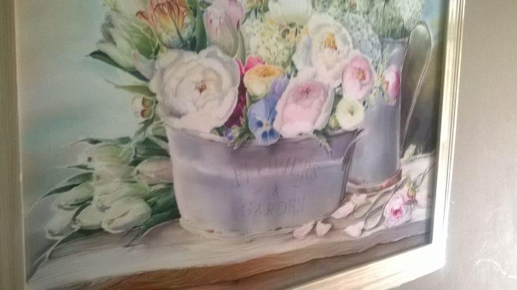 frame silk painting )
