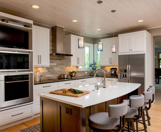 Modern Farmhouse Kitchen Design By Crystal Kitchen + Bath. NKBA 2nd Place  Medium Kitchen