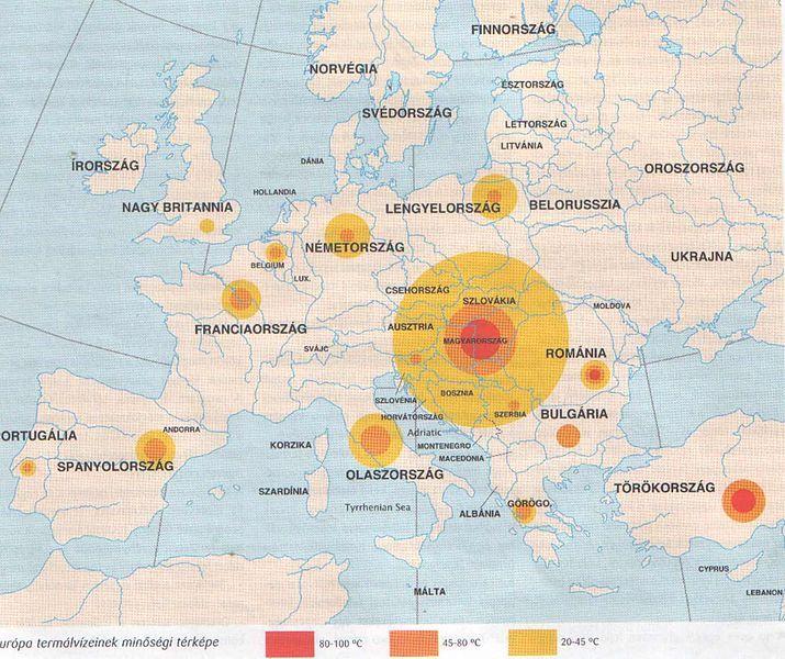 Európa_termálvízeinek_gyakorísága