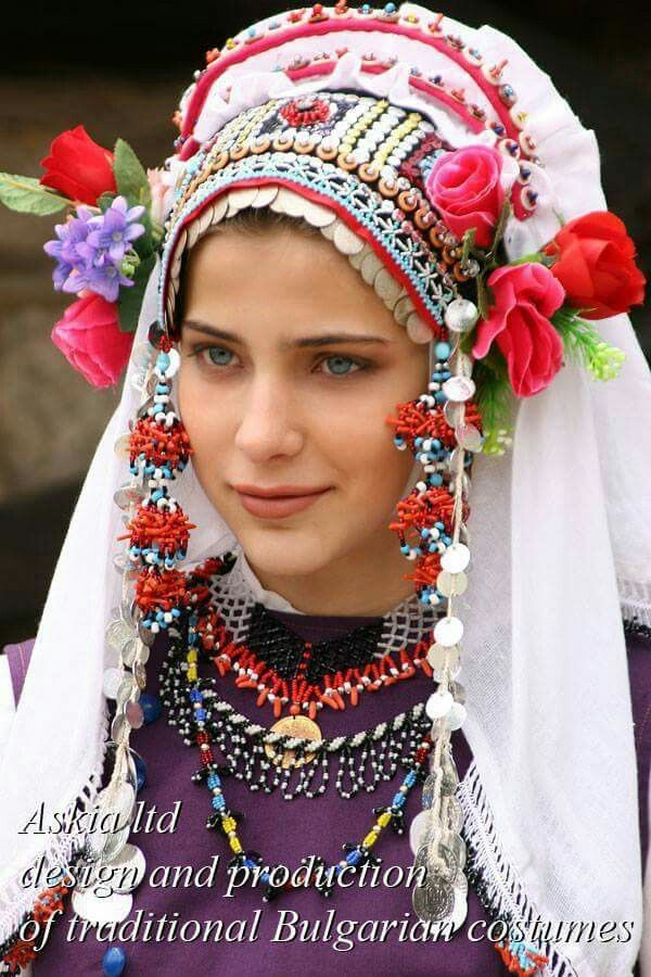 Bulgarian woman in traditional clothing