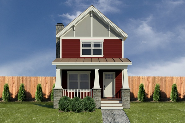 24 best images about house plans on pinterest rec rooms for Minimalist house plans narrow lot