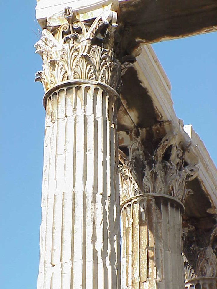Corinthian column, Temple of Olympian Zeus, Athens, Greece - original inspiration for Corinthian columns as seen in neo-Classical architecture, Australia, UK, USA etc.