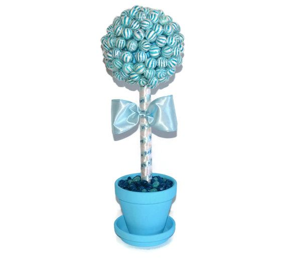 Blue Lollipop Baby Shower Topiary Its a Boy by EdibleWeddings, $39.99