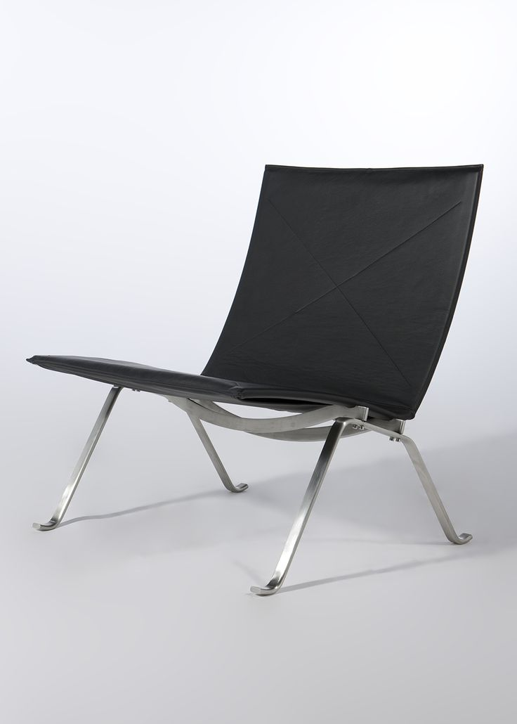 The Ramos Lounge Chair has a solid steel frame with a leather seat and…