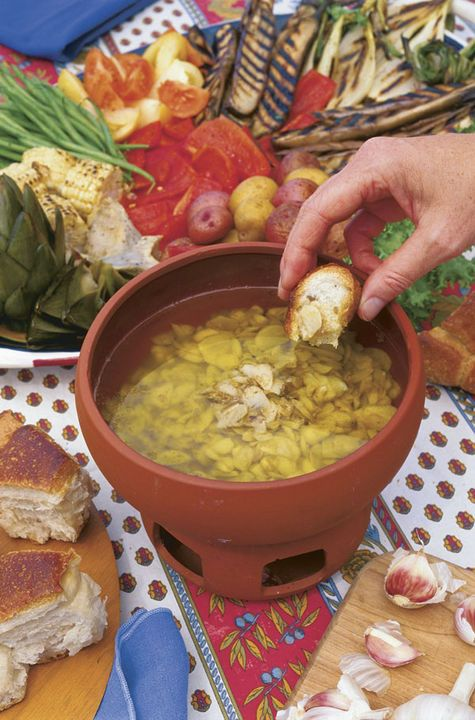 "Bagna Cauda means ""hot bath."" It is a special treat made with ..."