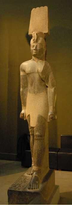 Statue colossale du roi Aspelta, provenant du Djebel Barkal, Grand temple d'Amon (600-580 av. JC)