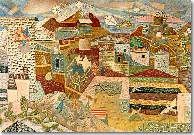 Γκίκας-Χατζηκυριάκος Νίκος-Μεγάλο Τοπίο της Ύδρας, 1938