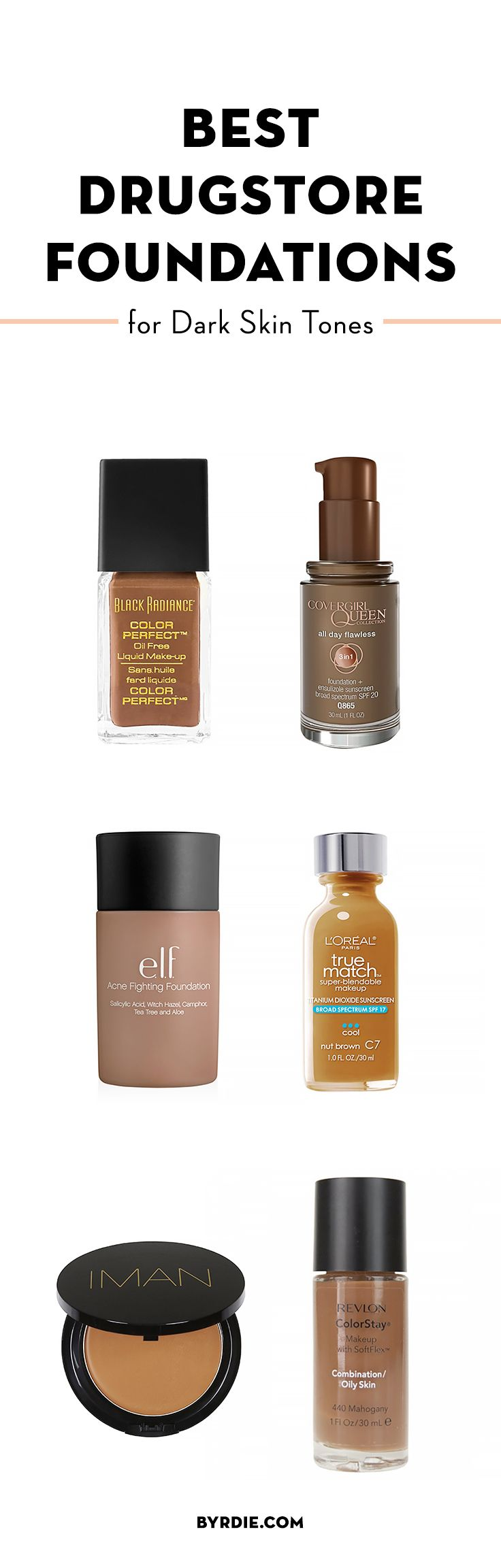 Top drugstore foundations for dark skin tones Skin Care products - http://amzn.to/2iSUZHs