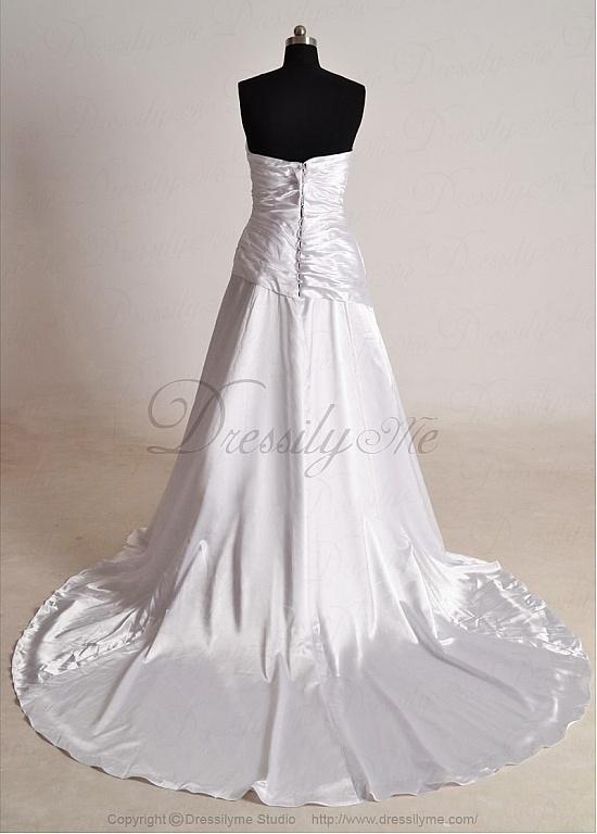 Elegant Exquisite Charmesure A-line Sweetheart Neck Charm Strapless Wedding Dress