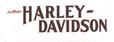 AMF Harley FXS Low Rider Logo Decal Vinyl 61368-79 Gas Tank 1979 1980 Black Red